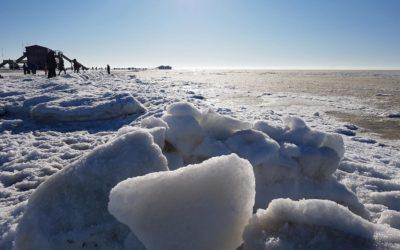 Die Nordsee bei Eis und Schnee erleben